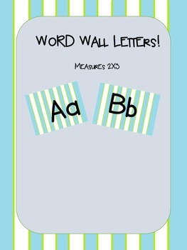 Striped Word Wall Set!