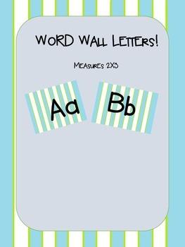 Striped Word Wall Set!