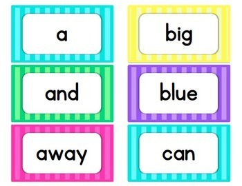 Striped Word Wall Words {220 Dolch Sight Words + Editable Cards}