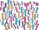 Striped and Polka Dotted Letters -MadeForSecondGrade