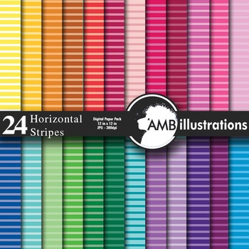 Digital Papers - Striped digital paper and backgrounds, AMB-397