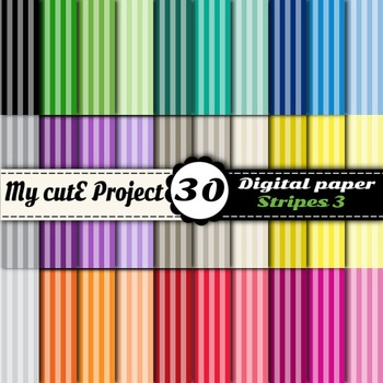 Stripes 3 -DIGITAL PAPER - Instant Download - Scrapbooking
