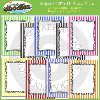 Stripes 8 1/2 x 11 Ready Pages