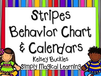 Stripes Behavior Chart & Calendars