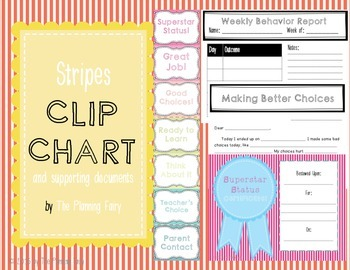 Stripes Behavior Clip Chart Bundle