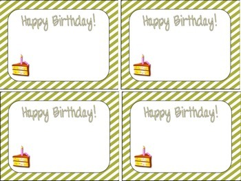 Stripes Birthday Cards