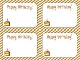 Stripes Birthday Cards