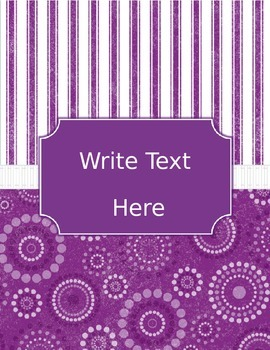 Stripes & Contemporary Dots Editable Binder Covers & Spines
