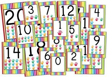 Stripes & Dots Rainbow Themed Classroom Bundle