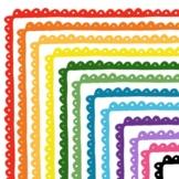 Clip Art: Stripes n' Scallops Border Set