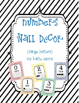 {Stripes} Numbers Wall Decor