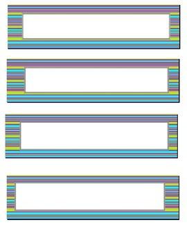 Stripes Organization/Teacher Binder