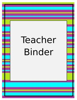 Stripes Organization/Teacher Binder