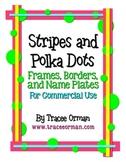 Stripes & Polka Dots Labels Frames Borders Name Plates
