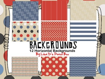 Stripes, Polka Dots, and More Background Set