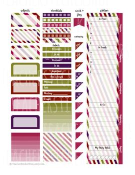 Stripes - Teacher Planner Weekly Layout Stickers