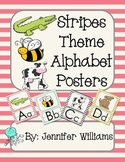 Stripes Theme Alphabet Posters