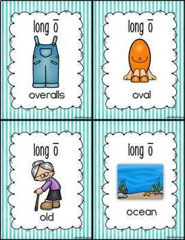 Stripes Vowel Posters Bundle