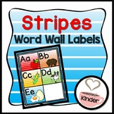 Stripes Word Wall Labels
