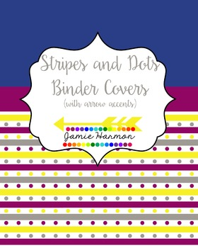 Stripes and Dots Binder Covers