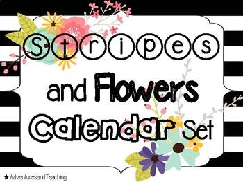 Stripes and Flowers Calendar Set