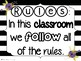 Stripes and Flowers Classroom Rules