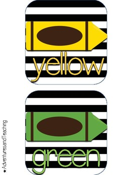 Stripes and Flowers Color Cards