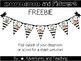 Stripes and Flowers Welcome Pennant {Freebie}