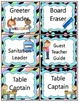 Stripes and Polka Dot Job Labels