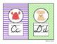 Stripes and Polkadots Cursive Alphabet Mini-Posters