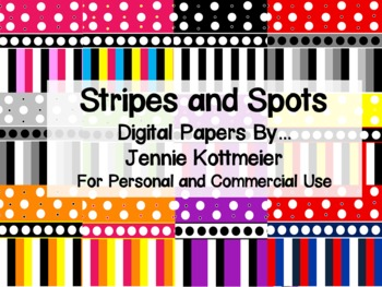 Stripes and Spots Digital Papers