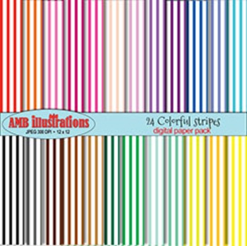 Stripes papers and backgrounds, Different colors scrapbooking papers AMB-408