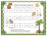 Stripes the Tiger's Long I Jungle Hunt  Literacy Station Game RF.1.3, RF.2.3