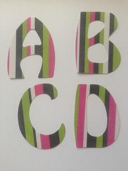 "StripesAlphabet Laminated 2"" letters 78pcs"