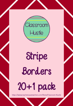 Stripey Borders/Frames 21pack
