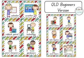 Colourful and Stripey Classroom Job and Helper Cards - Back to School