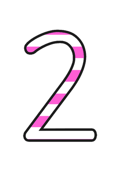 Stripey Pink Display Numbers