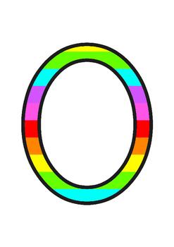 Stripey Rainbow Display Numbers