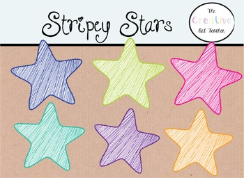 Stripey Stars - Digital Clipart
