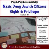 Stripping Jewish Germans of Rights & Privileges: Laws of Nazi Germany