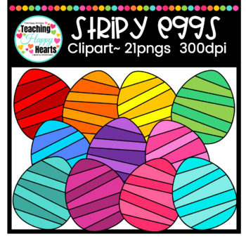 Stripy Eggs Clipart