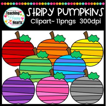 Stripy Pumpkins Clipart