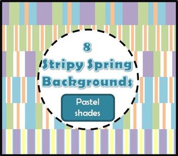 Stripy Spring backgrounds / digital paper