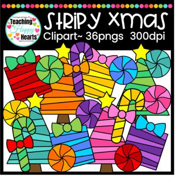 Stripy Xmas Fun Clipart