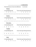 Strive for Five Behavior Chart