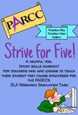 """""""Strive for Five"""" PARCC Helpful Strategies for the ELA Res"""