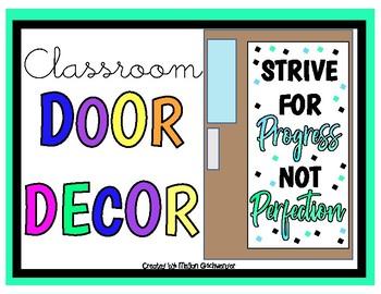 Strive for PROGRESS not PERFECTION (Door Decor/Bulletin Board Kit)
