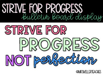 Strive for Progress - Growth Mindset Bulletin Board Display