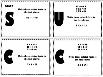 3rd Grade Math Self Checking Task Cards