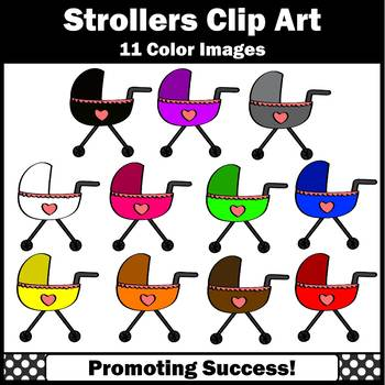 Stroller Clip Art Carriages Commercial Use SPS
